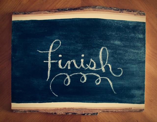 2013 Resolution: Finish
