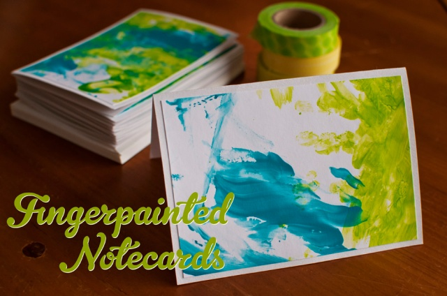 DIY Fingerpainted Notecards