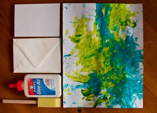 DIY Fingerpainted Notecards - Materials