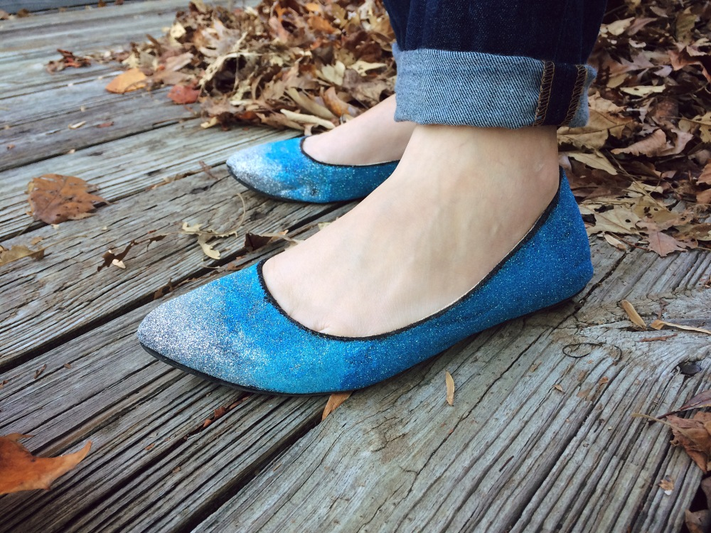 Ombre Glitter Shoes - Looks Like Dinosaurs